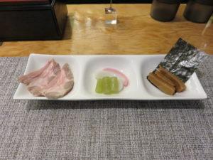 淡麗煮干ソバ(醤油)@煮干乱舞 TOKYO:別皿トッピング