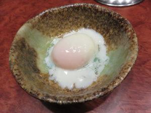 KUNIMAX@汁なし担担麺 くにまつ:温玉
