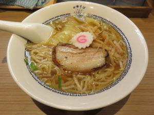 中華そば(白)皮ワンタン入り(手もみ麺):ビジュアル