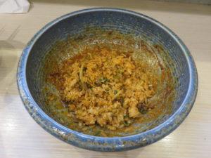 汁なし坦々麺(細麺・4辛)@八玄八角:ごはん