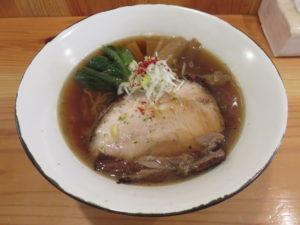 瀬戸内白いりこと地鶏のあっさり醤油@中華そば トランポリン:ビジュアル