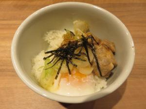 生姜醤油ラーメン@Nii:鶏の甘辛温玉丼