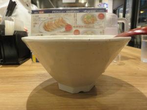 かき揚げラーメン(白醤油)@餃子の王将 Expressアトレ秋葉原店:ビジュアル:サイド