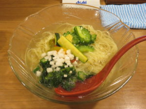 夏野菜の冷やし麺 アスパラだし仕立て@鯛塩そば 灯花:ビジュアル