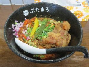 冷やしスパイシーカリー麺(大辛)@らーめんぶたまろ:ビジュアル
