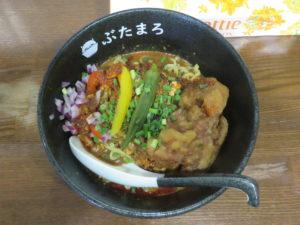 冷やしスパイシーカリー麺(大辛)@らーめんぶたまろ:ビジュアル:トップ