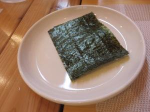 あっさり塩らぁ麺@らぁ麺 桃の屋:海苔