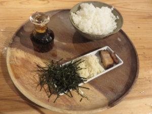 5種の貝ダシソバ@自家製麺 うろた:わさびめし