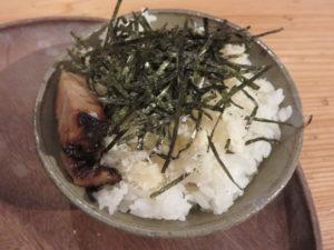 5種の貝ダシソバ@自家製麺 うろた:わさびめし:盛り付け