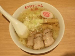 會津山塩らーめん(手打ち麺)@會津・喜多方らーめん 愛絆:ビジュアル:トップ