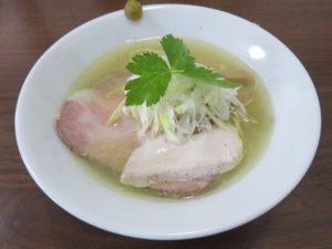 地鶏そば(塩)@麺屋 むじゃき:ビジュアル
