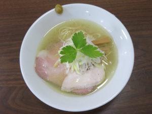 地鶏そば(塩)@麺屋 むじゃき:ビジュアル:トップ
