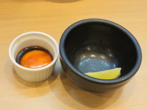 まぜそば(漬け卵黄添え)@麺処もみじ:別皿