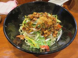 本格東京ジャージャー麺(並盛り)@本格東京ジャージャー麺 中野本店:ビジュアル:肉味噌