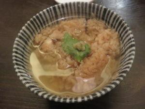 醤油らぁめん@つけ麺 山崎:タコ飯茶漬け:鰹の一番出汁