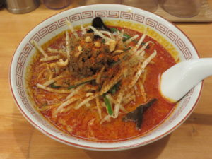 担々麺(辛い)@担々飯店:ビジュアル