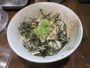 塩白湯ラーメン@下町ら~めん:焼鯖ほぐし丼