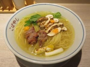 鴨と松茸の中華そば@やきとり 児玉:ビジュアル