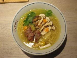 鴨と松茸の中華そば@やきとり 児玉:ビジュアル:トップ