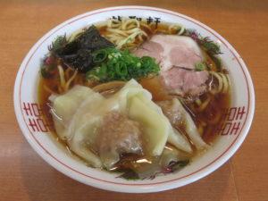 醤油ワンタン麺 並@龍聖軒:ビジュアル