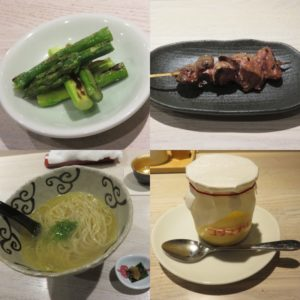 鴨と松茸の中華そば@やきとり 児玉:コース4