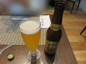 セレスティン特別盛醤油ラーメン@京ラーメン さだかず ホテル ザ セレスティン東京芝:ビール