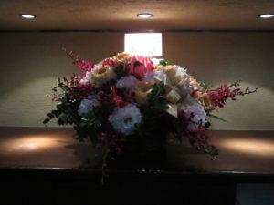 セレスティン特別盛醤油ラーメン@京ラーメン さだかず ホテル ザ セレスティン東京芝:お祝いの花