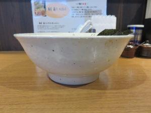 鶏白湯らーめん@麺屋 藤しろ 練馬店:ビジュアル:サイド