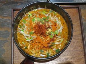 辛味噌ラーメン(2辛)@恵比寿らぁ麺屋 つなぎ 中野店:ビジュアル:トップ