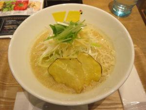 生姜ベースのsoup(中華麺(普通盛)):ビジュアル