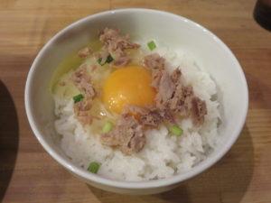 鶏だく@麺屋 極鶏:玉子かけご飯:ライドオン
