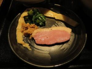鴨出汁醤油そば@鴨出汁中華蕎麦 麺屋yoshiki:ビジュアル:具