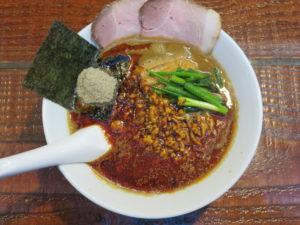 煮干豚担々麺@らーめん くぼ鷹:ビジュアル:トップ