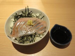 地魚塩らぁめん@江ノ島らぁ麺 片瀬商店:ニシンの刺し身ご飯