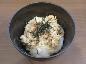 大山鶏の夜鳴きそば@つけめん さなだ:鶏生姜ほぐしご飯