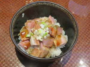 醤油ラーメン@麺屋ざぶとん:ミニチャーシュー丼