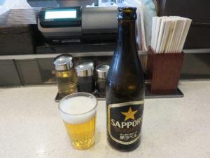 ミックスワンタンメン@たんたん亭:ビール