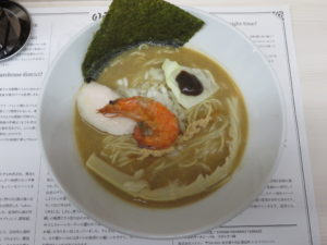 濃厚海老ソバ@マグロ卸のマグロ丼とラーメンの店:ビジュアル:トップ