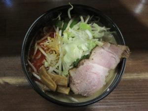 辛味噌ラーメン(太麺)@味噌専門店 彩雲:ビジュアル:トップ