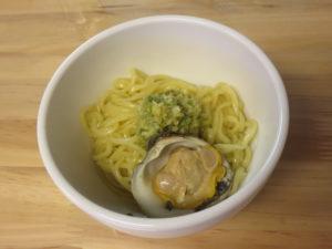 潮らぁ麺@Tokyo Bay Fisherman's noodle:ビジュアル:貝玉 半玉