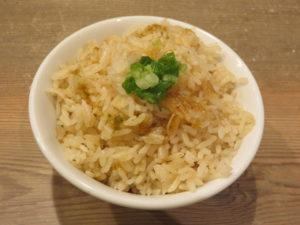 濃厚鶏そば@中華そば TORICO:炊き込みご飯