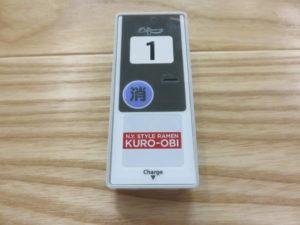 和牛ステーキラーメン@KURO-OBI MIYASHITA PARK店:呼び出しベル
