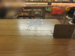 和牛ステーキラーメン@KURO-OBI MIYASHITA PARK店:卓上