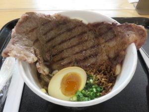 和牛ステーキラーメン@KURO-OBI MIYASHITA PARK店:ビジュアル