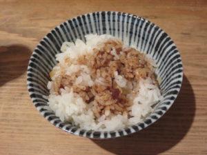煮干ルーロー花椒油そば(煮卵・ショウガ)@焼き貝あぶさん:追い飯