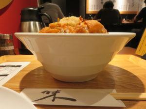 鶏あぶら麺(小)@油は快楽:ビジュアル:サイド