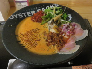 赤牡蠣カプチーノ(3辛)@オイスターバックス:ビジュアル