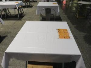 北海道ホタテ入り汁なし担々麺@丸の内×Japan47 ストリートレストラン:卓上