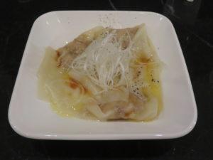 A bowl of microcosmos ramen@Tsurumen Tokyo:Matsutaka Won-ton plate