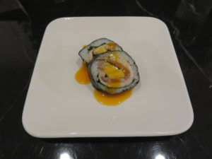 A bowl of microcosmos ramen@Tsurumen Tokyo:長芋とチャーシューの海苔巻き